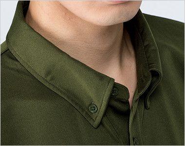 00313-ABN 4.4オンス ドライボタンダウンポロシャツ(ポケット無し)(男女兼用) ボタンダウン