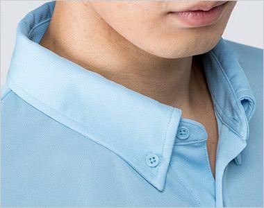 00314-ABL 4.4オンス ドライボタンダウン長袖ポロシャツ(男女兼用) 爽やかな印象のボタンダウン