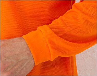 00335-ALP ドライ長袖ポロシャツ(ポケ付)(4.4オンス)(男女兼用) リブ仕様