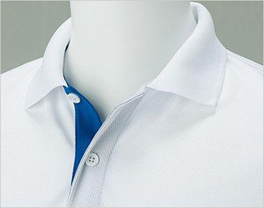 00339-AYP ドライ レイヤードポロシャツ(4.4オンス)(男女兼用) ボタンを外してオシャレな印象