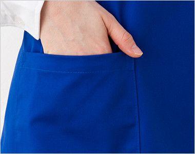 00871-TBA 胸当てエプロン X型(85cm丈)(男女兼用) ポケット付き