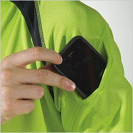 3015 TS DESIGN [春夏用]ハーフジップ ドライポロシャツ(男女兼用) マルチスリーブポケット