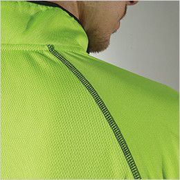 TS DESIGN 3015 [春夏用]ハーフジップ ドライポロシャツ(男女兼用) 縫い目を平らに仕上げたフラットシーマー
