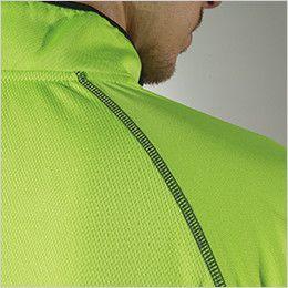 TS DESIGN 3025 [通年]ハーフジップ 長袖ドライポロシャツ(男女兼用) 縫い目を平らに仕上げたフラットシーマー
