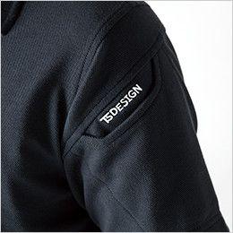 TS DESIGN 4075 ESロングスリーブポロシャツ(男女兼用) マルチスリーブポケット仕様