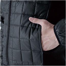 42256 TS DESIGN [秋冬用]マイクロリップショートスリーブジャケット(男女兼用) ポケット