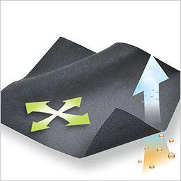 4235 TS DESIGN [秋冬用]ラミネートロングスリーブジップシャツ(男女兼用) マイクロフリース