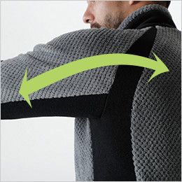 4236 TS DESIGN [秋冬用]マイクロファーロングスリーブジャケット(男女兼用) ストレッチ(両脇・袖・背中)
