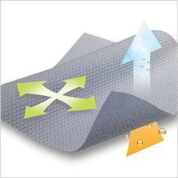 5015 TS DESIGN FLASH [春夏用]ハーフジップ ドライポロシャツ(男女兼用) ハニカムウォームストラクチャー素材