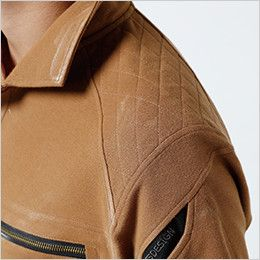 5105 TS DESIGN ワークニットロングポロシャツ(男女兼用) 刺し子仕様