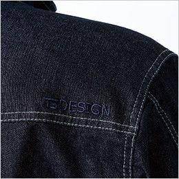 5115 TS DESIGN 綿100%ソフトチノクロス&ストレッチデニム長袖シャツ(男女兼用) オリジナル刺繍