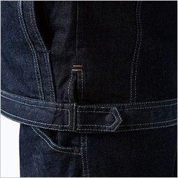 5116 TS DESIGN 綿100%ソフトチノクロス&ストレッチデニム長袖ジャケット(男女兼用) アジャスター