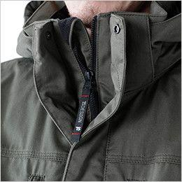 5126 TS DESIGN 綿100%ライトウォームジャケット(男性用) フロントファスナー引き手部分