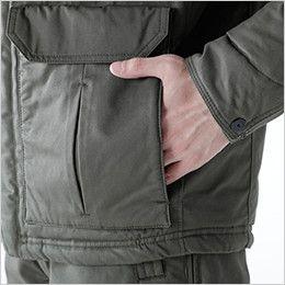 5126 TS DESIGN 綿100%ライトウォームジャケット(男性用)  ウォームポケット付