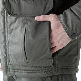 TS DESIGN 5127 ライトウォームハーフコート(男女兼用) 脇ウォームポケット