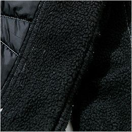 TS DESIGN 5234 メンズニッカーズ中綿キルティングカーゴパンツ(男女兼用) 内股裏側のフリース仕様