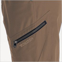 TS DESIGN 61145 リップストップ メンズカーゴショートパンツ(男性用) カーゴポケット仕様