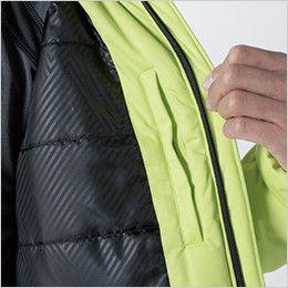 TS DESIGN 6626 防風ストレッチ ライトウォームジャケット(男女兼用) 内ポケット+裏地TSデザインオリジナルエンボスプリント