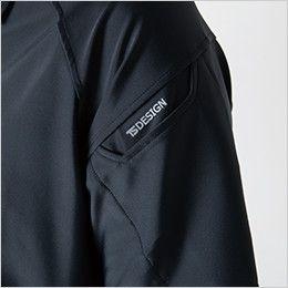 TS DESIGN 8075 [春夏用]クールアイス長袖ポロシャツ(男女兼用) マルチスリーブポケット仕様