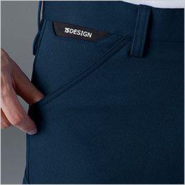 TS DESIGN 8114 製品制電アクティブメンズカーゴパンツ(男性用) コインポケット