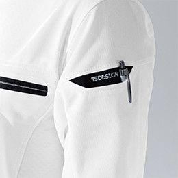 81355 TS DESIGN ES [通年]ワークニットショートポロシャツ(男女兼用) マルチスリーブポケット