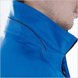 8156 TS DESIGN AIR ACTIVE [春夏用]ショートスリーブジャケット(男女兼用) 配色パイピング