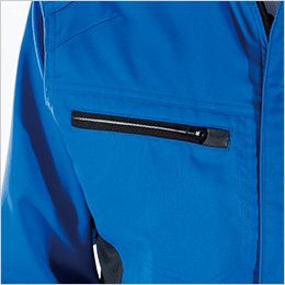 8156 TS DESIGN AIR ACTIVE [春夏用]ショートスリーブジャケット(男女兼用) ファスナーポケット