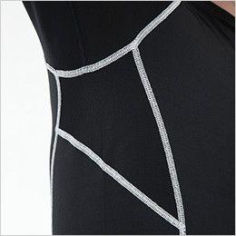 82251 TS DESIGN ES ロングスリーブシャツ(男性用) 脇部分メッシュ