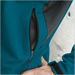 8446 TS DESIGN スポーティ防寒 防風ウォームジャケット(男女兼用) ベンチングポケットとしても使用可能