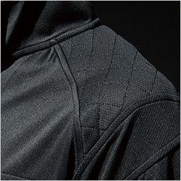 846305 TS DESIGN [春夏用]ワークニット 長袖ドライポロシャツ(男女兼用) 刺し子仕様