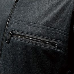 846305 TS DESIGN [春夏用]ワークニット 長袖ドライポロシャツ(男女兼用) ファスナーポケット