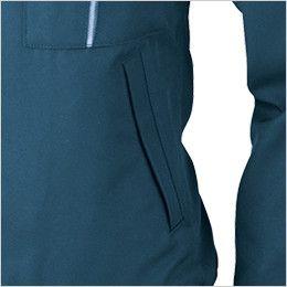 ジーベック 1240 スムーズアップ長袖ブルゾン ポケット