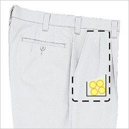 ジーベック 1270 [春夏用]ツータック プリーツロンミニハイブリットスラックス コインポケット付き