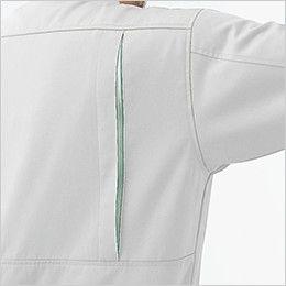 ジーベック 1273 プリーツロンミニハイブリット長袖シャツ 動きやすさをサポートするメッシュ仕様のプリーツロン