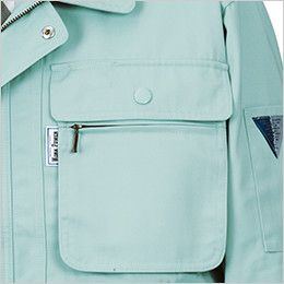 ジーベック 1443 [春夏用]長袖シャツ ファスナーポケット付き