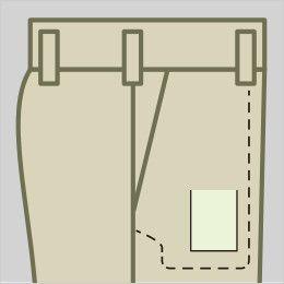 ジーベック 1463 T/Cツイル ツータック ラットズボン パンツ右脇ポケット内側にコインポケット付き