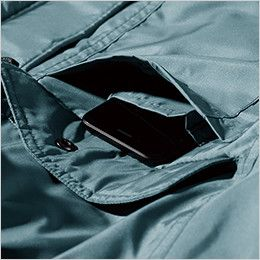 ジーベック 151 エコ防寒コート(男女兼用) 携帯電話収納ポケット