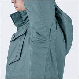 ジーベック 151 エコ防寒コート(男女兼用) 特殊カッティングでスムーズな動き(XEカット)