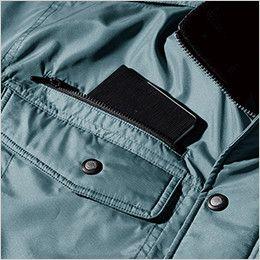 ジーベック 152 エコ防寒ブルゾン (男女兼用) 右胸ファスナーポケット