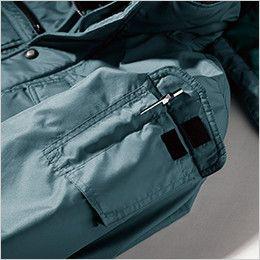 ジーベック 152 エコ防寒ブルゾン (男女兼用) 左袖ペン差し&タバコ収納