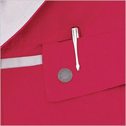 ジーベック 1551 [春夏用]クレスタ21半袖ブルゾン(男女兼用) 左胸 ペン差し付き