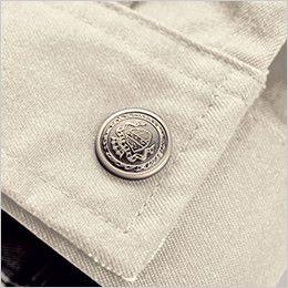 ジーベック 1610 [春夏用]T/Cツイル長袖ブルゾン スイングトップ(男女兼用) 通年 金属ボタン