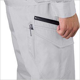 ジーベック 1683 帯電防止ツイルノータックラットズボン ペン差し付き