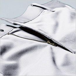 ジーベック 1685 帯電防止スラックス(女性用) フロントファスナーは丈夫なYKK3YGファスナーを使用