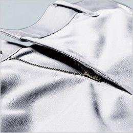 ジーベック 1686 帯電防止ラットズボン(女性用) 丈夫なYKK3YGファスナーを使用