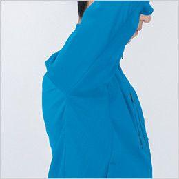 ジーベック 1811 [春夏用]カラーストレッチ半袖ブルゾン(男女兼用) XEカットで腕の上げ下げがラクラク