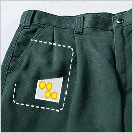 [在庫限り/返品交換不可]ジーベック 2002 プリーツロンソフトコットン ツータック スラックス ポケット内側にコインポケット付き