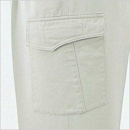 [在庫限り/返品交換不可]ジーベック 2003 プリーツロンソフトコット ツータック ラットズボン フラットポケット