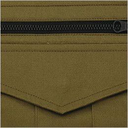 ジーベック 2015 綿100%長袖シャツ(女性用) 金属ファスナー