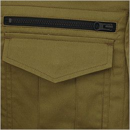 ジーベック 2015 綿100%長袖シャツ(女性用) ファスナーポケット